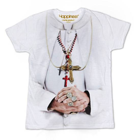New For Ed Concorso The Happiness Pope T Shirt Il La Lancia w08nmN
