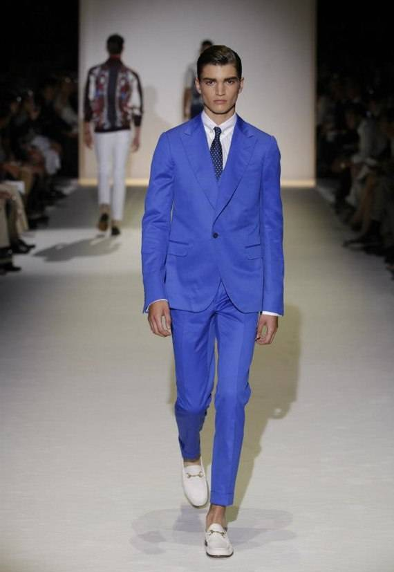 c65b597371e0e Abito blu classico per la primavera uomo di Gucci - Moda uomo ...