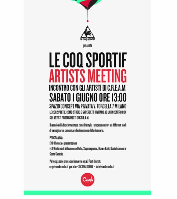Le Coq Sportif Artists Meeting