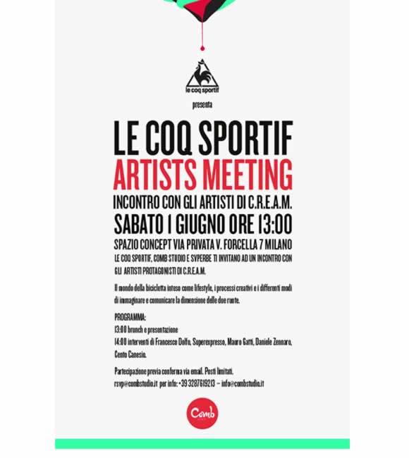 Le Coq Sportif Artists Meeting