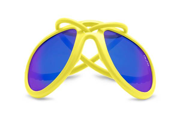 Gomma e lenti a specchio per gli occhiali da sole multilayer flash blu di al e ro design moda - Occhiali per truccarsi allo specchio ...