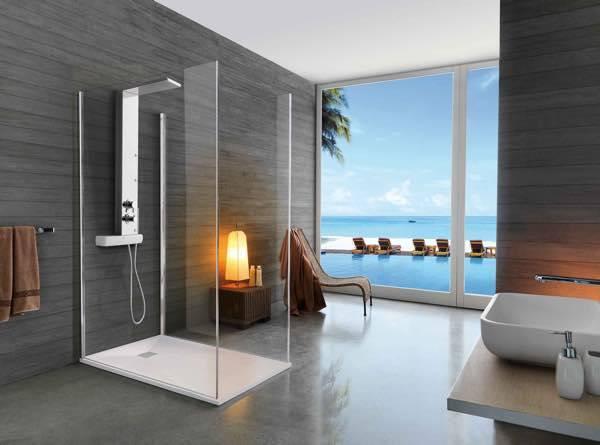 Arredamento doccia a filo pavimento soluzioni per lo for Arredamento casa uomo single