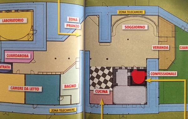 Grande fratello 14 la mappa della casa che ospiter i for Grande design della casa