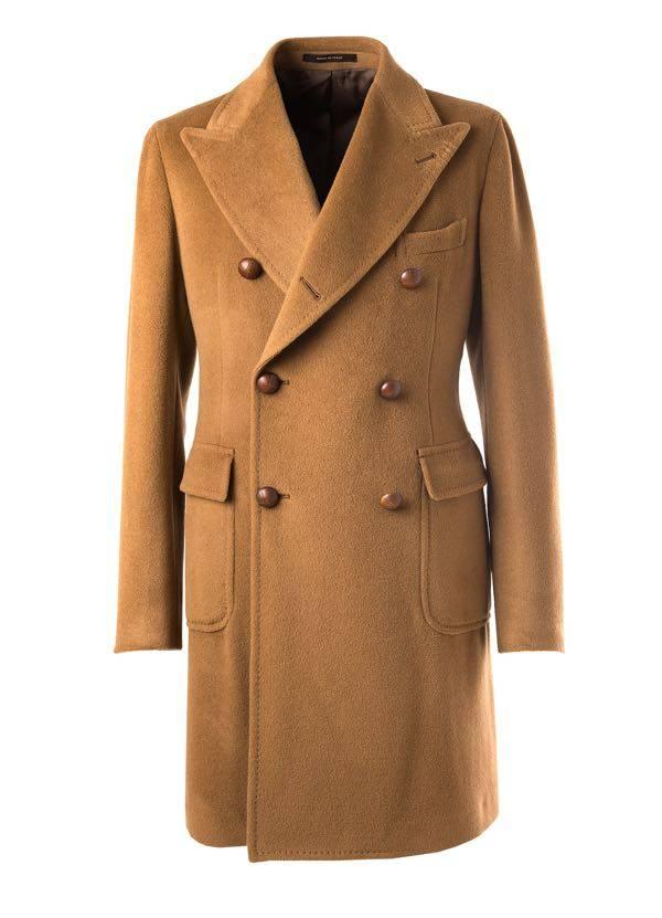 Cappotto da uomo di cammello