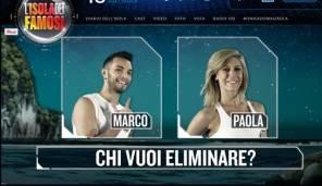 Isola dei Famosi 2016 chi vuoi che esca tra Paola Caruso e Marco Carta?