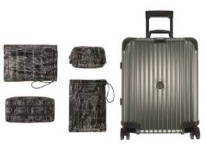 Rimowa e Moncler continua la collaborazione con un nuovo set di valigie