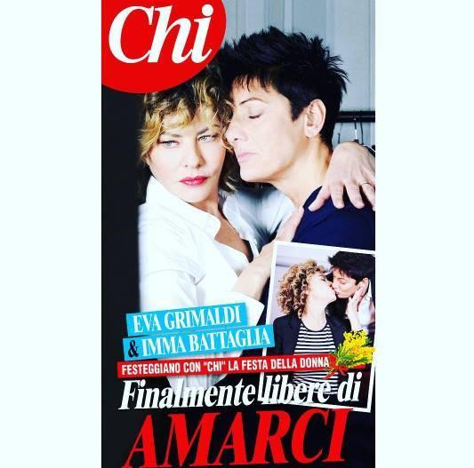 Eva Grimaldi fa coming out: ama Imma Battaglia