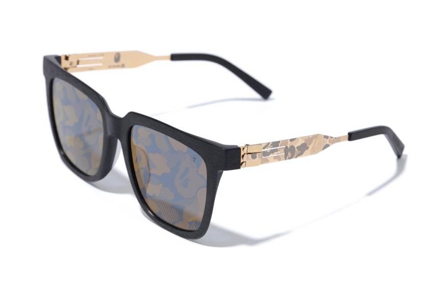 Gli occhiali da sole di Bape & ic! Berlin e quel tocco di mimetico che ti distingue