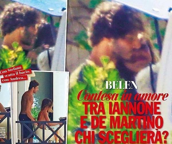Belen e Stefano a Ibiza scatta il bacio il ravvicinamento c'è e si vede