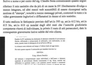 Uomini e donne news Claudio Sona lettera dell'avvocato al giornalista Dandolo