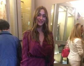 Sonia Lorenzini da Venezia alle sfilate di Milano Moda donna ecco il look