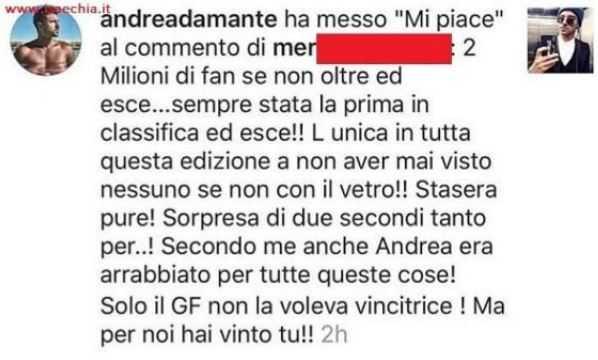 Andrea Damante arrabbiato con il GF Vip per l'eliminazione di Giulia: esclusivo!