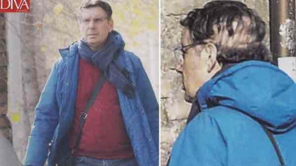 Fabrizio Frizzi dopo ischemia: mostra segni dell'operazione