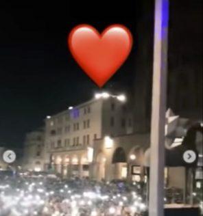 Andrea Damante manda un cuore a Giulia De Lellis, ecco il video