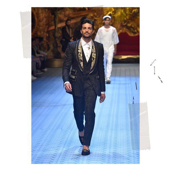 Dolce e Gabbana sfilata Milano Mariano Di Vaio e Monica Bellucci in passerella