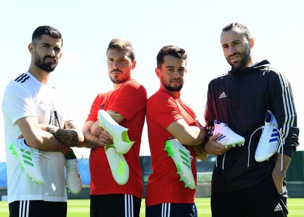 adidas firma con quattro calciatori del Napoli, Simone Verdi, Amin Younes, David Ospina, Elseid Hysaj