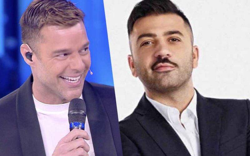 Ricky Martin il bacio in bocca ad Amedeo durante il serale di Amici